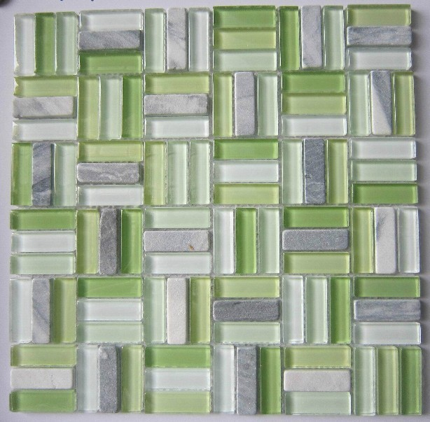 green glass mosaic mix stone marble mosaic tile backsplash sgmt072 glass mosaic kitchen tile pattern bathroom wall tiles