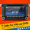 Hot Sale 2 DIN Car DVD GPS for VW JETTA GOLF MK5 MK6 GTI PASSAT B6 POLO SKODA Fabia GPS Navigation Radio USB/SD PC country map