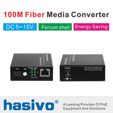 10/100Mbps Singlemode Fiber Media ConverterFiber optic media converter 1-port RJ45