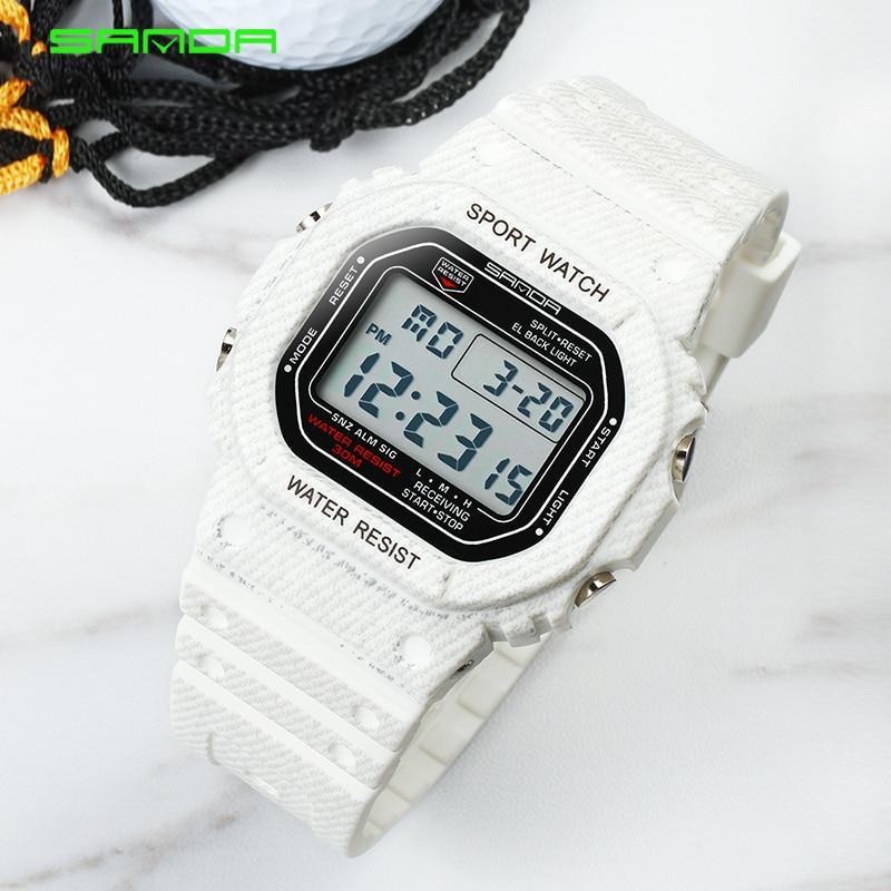 SANDA Fashion Sports Watches Men Women Waterproof Casual Watch Electronic LED Digital Wristwatches Male Clock Relogio Masculino
