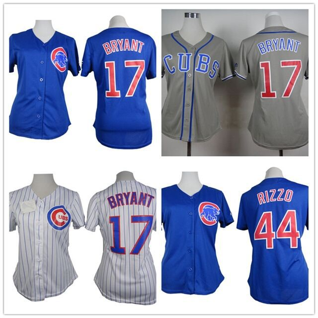 44 Anthony Rizzo jersey 17 Kris Bryant womens jersey authentic chicago cubs  jerseys women baseball Customized cool base jersey a46c302e87