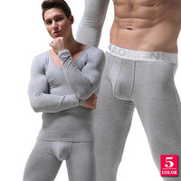 Spring Winter Male Thermal Underwear Set Mens Long Johns Thermo Underwear Thin V Neck Shirt+leggings Clothing ropa termica mujer