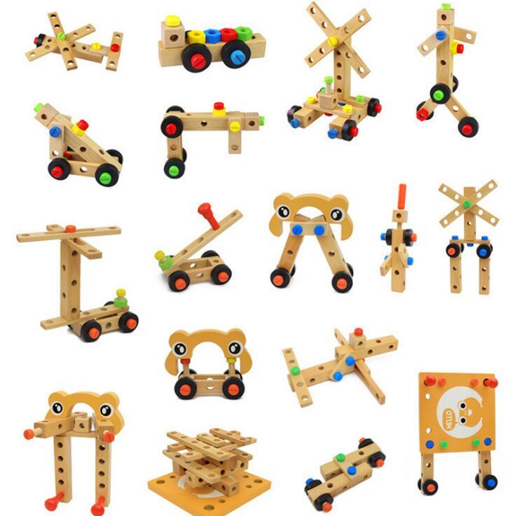 Montessori pour enfant jouets éducatifs pour enfants chaise designer ensemble d'outils jouets en bois cadeaux pour filles garçons expédition de la russie - 6