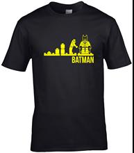 Evolution lego batman T Shirt adults mens super hero caped crusader New Shirts Funny Tops Tee free shipping
