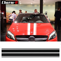 Edition 1 Style Bonnet Stripe Graphic Hood Decal Car Sticker For Mercedes Benz A C GLA