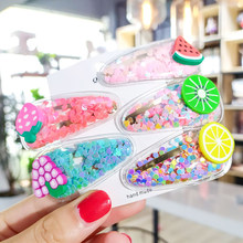 Fruit Hair Clips For Girls Kids New Transparent Hairpin Fashion Sweet Children Simple PVC BB Clips Ins Headband Hair Accessories(China)