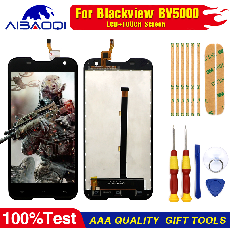 100% Original Blackview BV5000 LCD Display + Touch Screen 1280X720 5.0inch Assembly For Blackview BV5000+Tools+3M Adhesive
