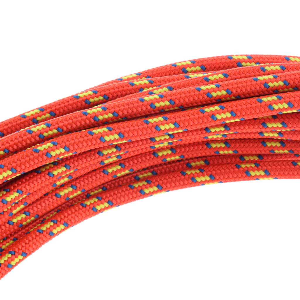 Image 5 - Nylon Climbing Safety Auxiliary Rope Static Cord Outdoor Rescue Tool Multipurpose Climbing Accessories 6mmx30m Orange/Green/Blue-in Climbing Accessories from Sports & Entertainment