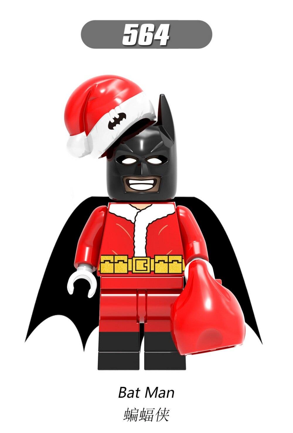Batman Christmas.Us 32 0 Sn 50pcs Xh564 Batman Wiley Super Heroes Merry Christmas Boy Joker Jango Fett Building Blocks Bricks Legao Toys X0154 In Blocks From Toys