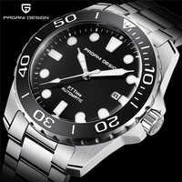 Diseño PAGANI 2019 relojes mecánicos deportivos militares para hombres, resistente al agua, de acero inoxidable, marca superior, reloj de lujo para hombres, envío directo