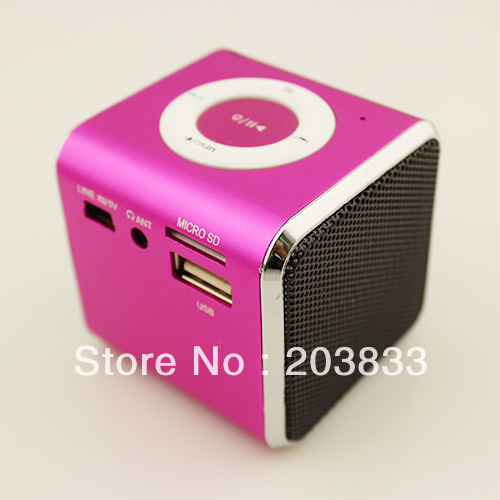 Free shipping + New Music Portable speaker SPE03 Mini USB Micro SD/TF Mp3 Player wihout screen & computer speaker