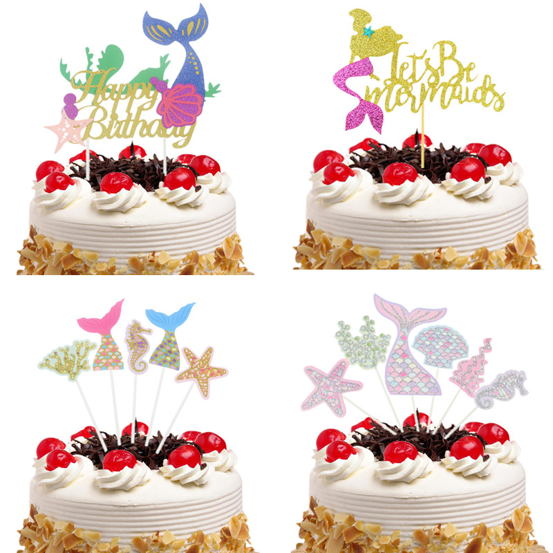 Us 101 15 Off4 Gaya Laut Hiasan Kue Bendera Cupcake Putri Duyung Puncak Kue Ulang Tahun Anak Anak Pernikahan Bridal Pembungkus Kue Pesta Baking