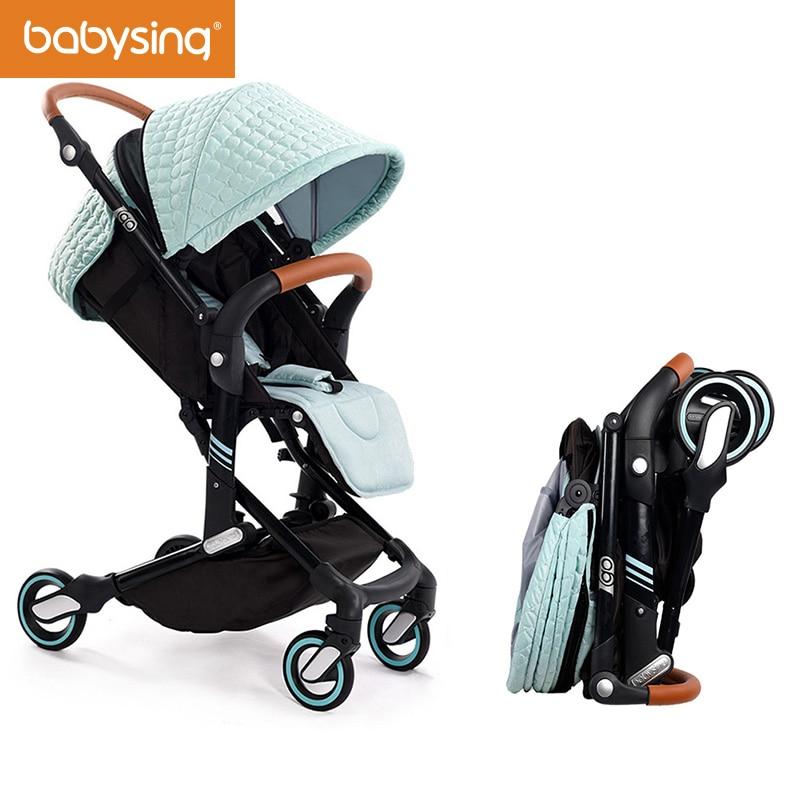 Babysing Высокая Пейзаж Портативный легкие детские коляски Складная Детские коляски kinderwagen I-GO