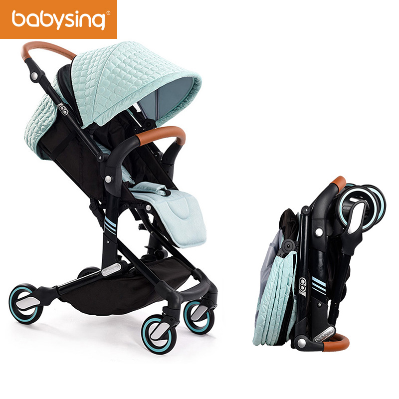 Babysing I-GO High Landscape Portable Lightweight Baby Stroller Strollers Foldable Baby Pram Pushchair Baby Carriage 2017 special offer poussette baby strollers aiqi stroller portable foldable high landscape suspension umbrella pram pushchair