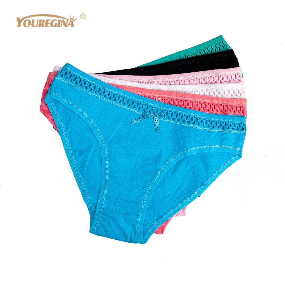 YOUREGINA Woman Underwear Cotton Seamless Briefs Sexy Women's   Panties   Hollow Out Ladies Underpants Lingerie 6pcs/set