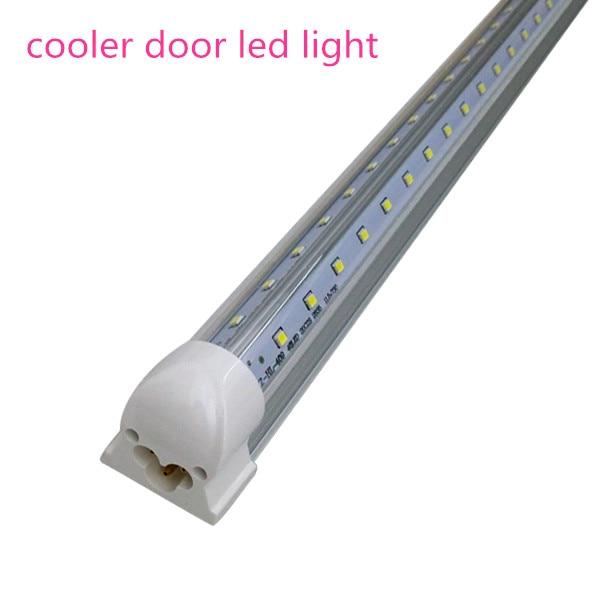 Integrated Cooler Door 8ft 2 4m 2400mm 65W Led T8 Tube SMD2835 High Bright  light 8 feet 85 265V fluorescent lighting. Cooler for Bedroom Promotion Shop for Promotional Cooler for