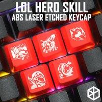 Новинка, просвечивающие заглушки ABS, просвечивающие lol черный красный r2 hero skill
