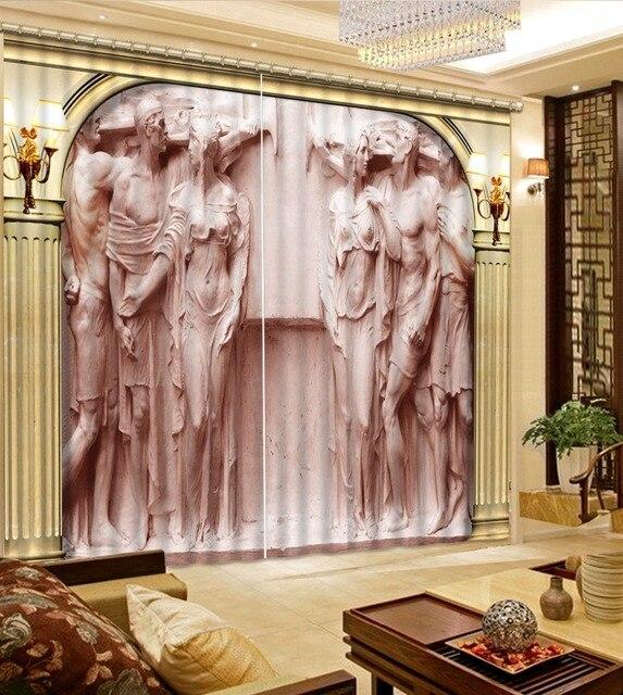 Tende di lusso personalizzato 3d figure Europee tende per la ...