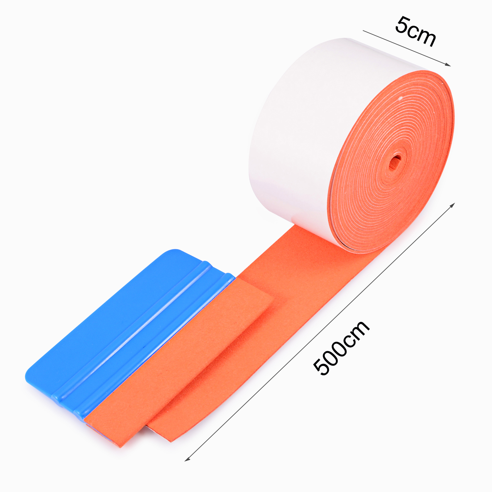 EHDIS 500CM No Scratch Suede Felt Cloth For All Card Squeegee Vinyl Car Wrap Tool Scraper Replacement Felt Edge Window Tint Tool