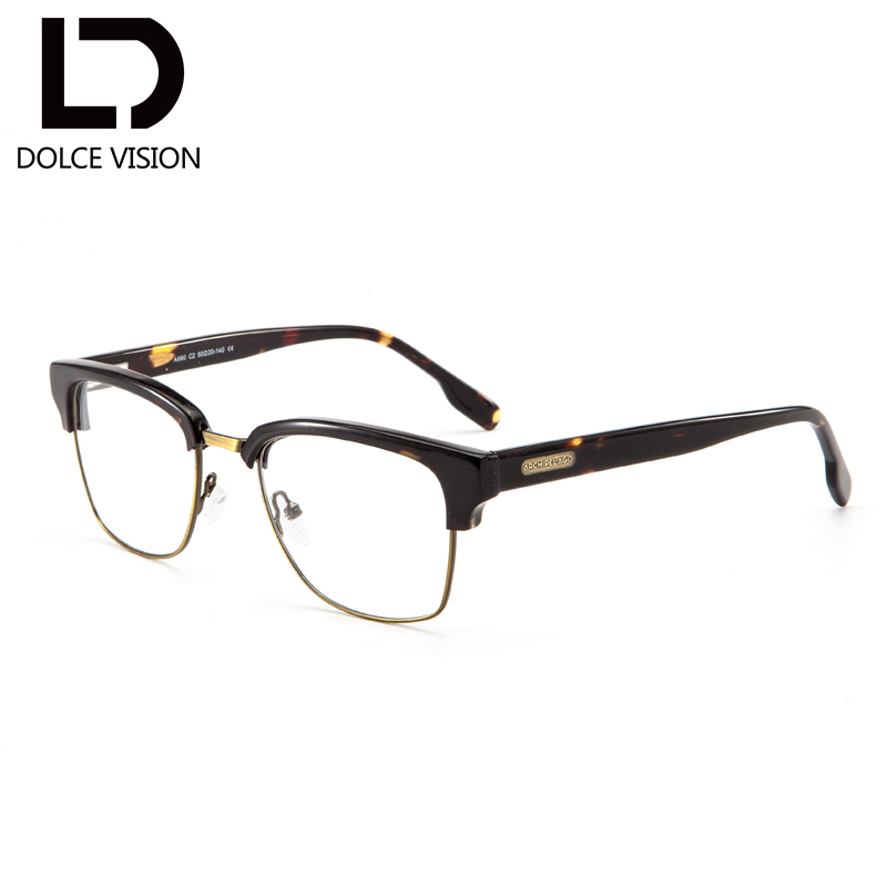 DOLCE VISION Retro Men Glasses Half Frame Original Design Optical Prescription Graduated Glasses Male Photochromic Spectacles