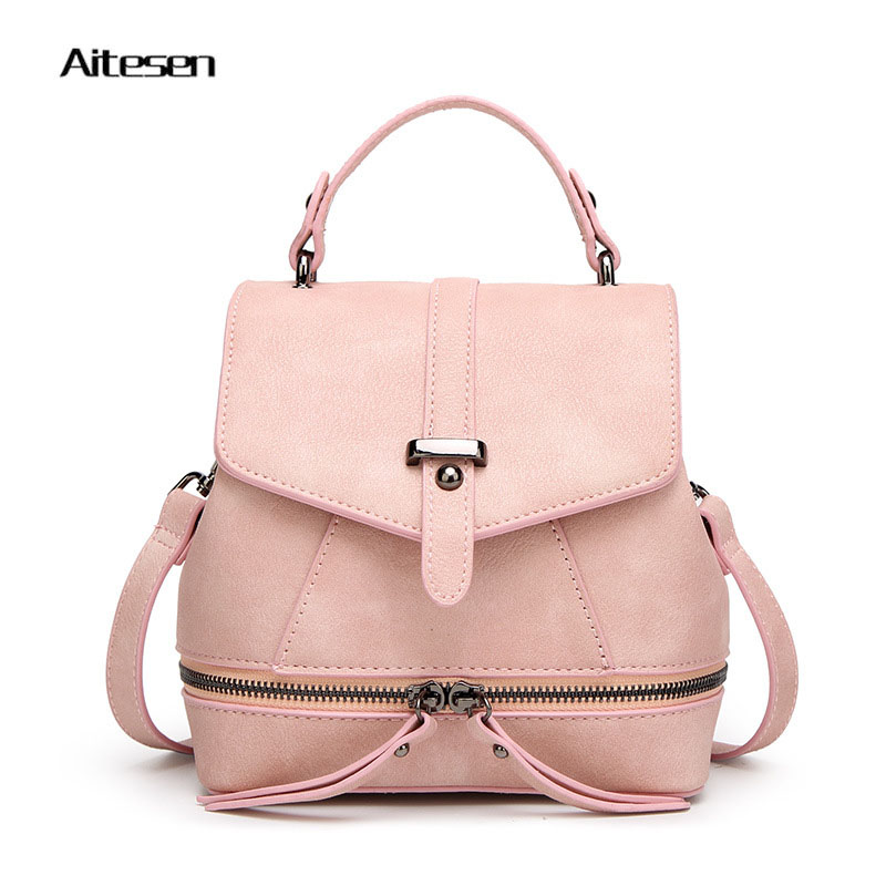 Women Kanken Backpack Classic Lady PU Leather Swisswin Schoolbags Brand Luxury New Fashion Shoulder Bag Vintage