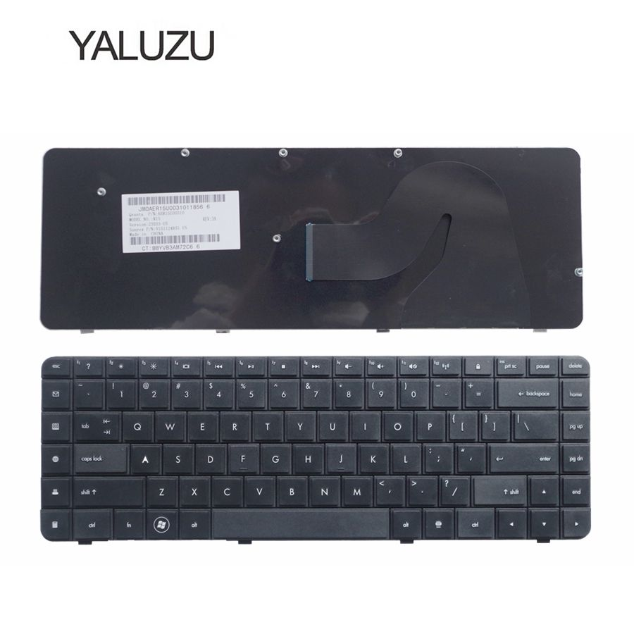 YALUZU English Laptop Keyboard FOR HP CQ62 G62 G62-a25eo CQ56 G56 FOR Compaq 56 62 G56 G62 CQ62 CQ56 CQ56-100 US English Black