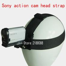 Pas na głowę StrapTripod uchwyt adaptera dla Sony RX0 FDR X3000 X3000R X1000 HDR AS300 AS200 AS100 AS50 AS30 AS20 AS15 kamera akcji cheap NYLON NIKON EKEN SOOCOO GoPro Sjcam PULUZ Pasy i Uchwyty FR-L016 xiao yi