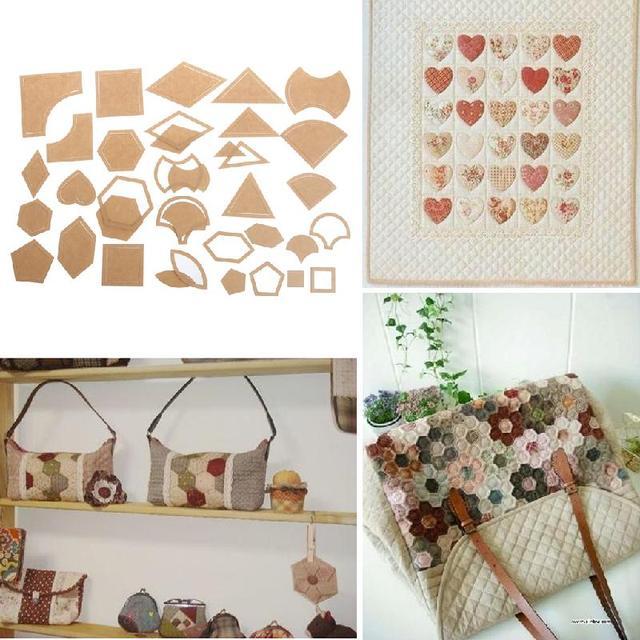54 Teile/satz Designs 27 Handmade Quilt Vorlagen DIY Tools Patchwork ...