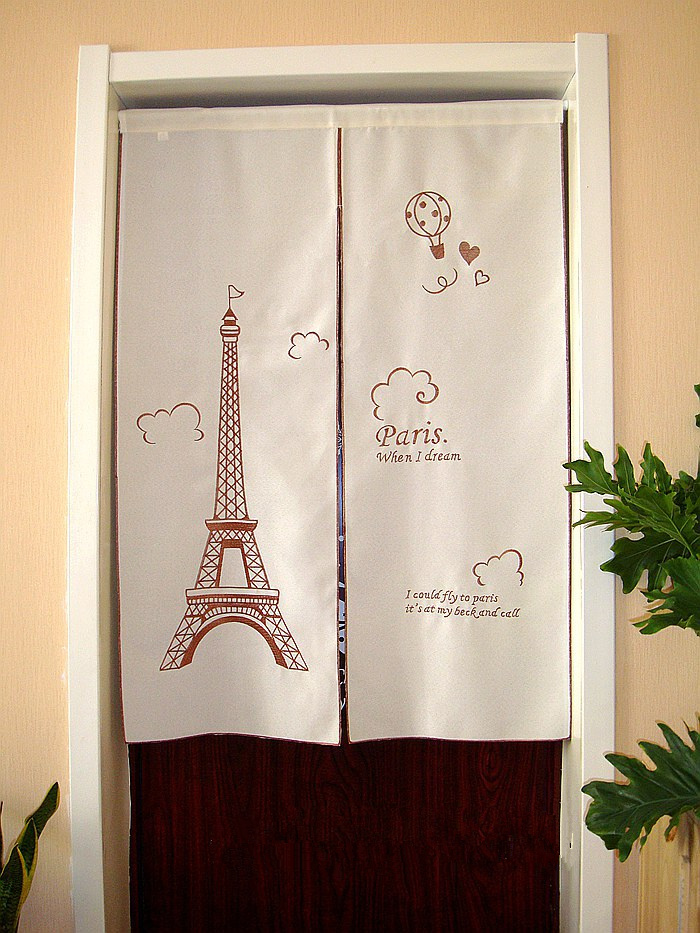 Half-curtain Embroidered Valance Partition Fashion Paris Eiffel Tower Curtain For Kitchen Cabinet Door Free Shipping A-69 zwbra shower curtain