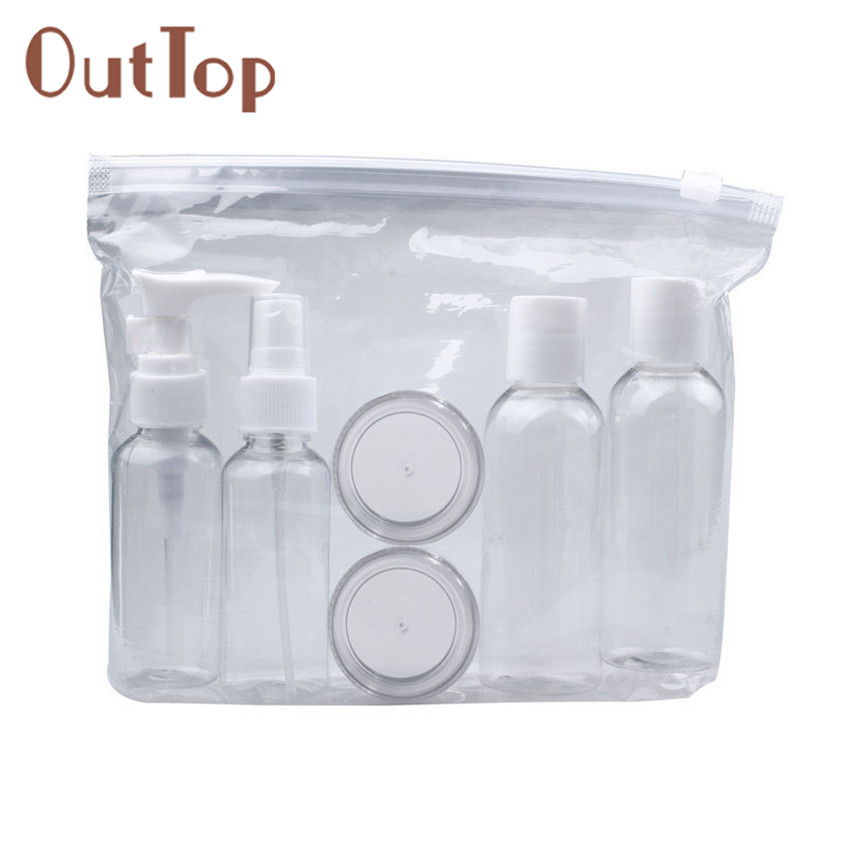 OutTop 1set New Portable Transparent Travel Cosmetic Bottle Points Bottling Six Sets Gift For Women J170116