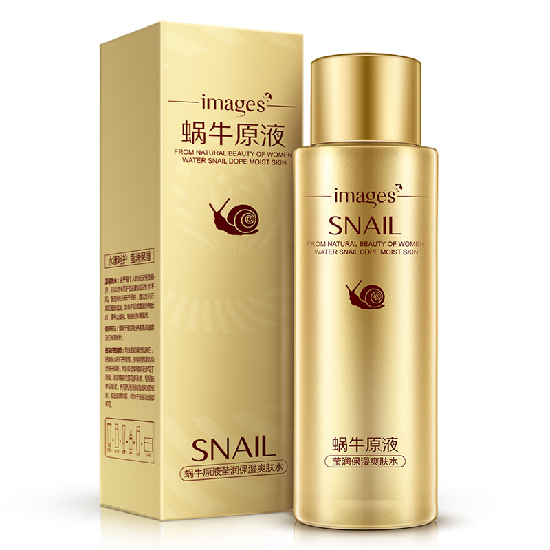 IMAGES Snail Concentrate Essence Whitening Toner Moisturizing Nourishing Relieve Skin Makeup Water Acne Treatment Face Care