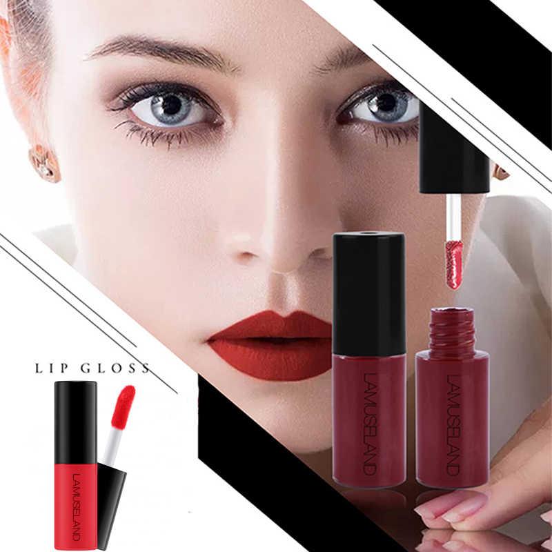 1PC 3.5g עמיד למים מט שפתון נוזלי קל לנשיאה 12 צבעים לטווח ארוך עירום גלוס קטיפה אדום שפתיים גוון קוסמטי