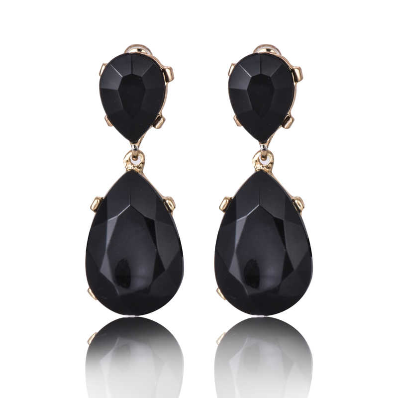 3 colors Jewelry drop shipping wholesale hot sale statement earrings crystal stud Earrings for party fashion earring