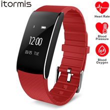 ITORMIS SmartBand Smart Fitness Bracelet Wrist Band ITA86 Heart Rate Blood Pessure Oxygen Monitor Cardio Sport for IOS Android itormis smart band bracelet wristband bluetooth fitness tracker smartband heart rate blood oxygen pressure for android ios