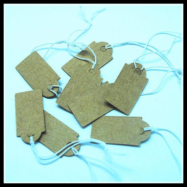 1000pcs Brown Paper Craft Paper Price Tags Paper Labels Size26x13mm Garment Labels Jewelry Packages Findings