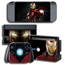 iron Man Skin Sticker for Nintendo Switch NS Console + Controller + Stand Holder Protective Film Color stickers
