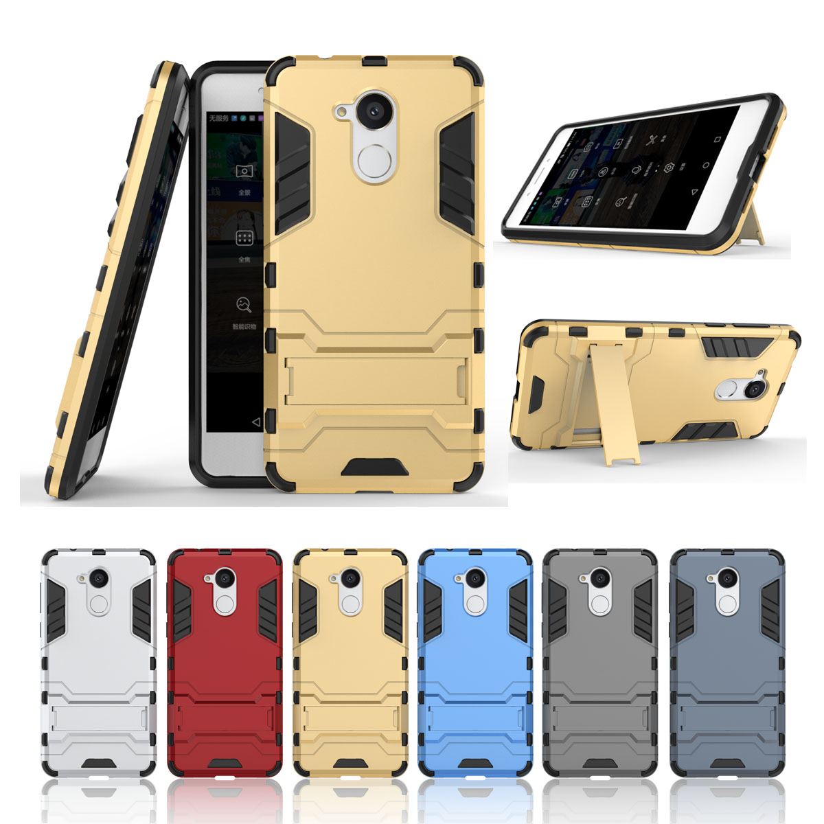 For <font><b>Huawei</b></font> Honor 6C/Enjoy 6S/<font><b>Nova</b></font> <font><b>Smart</b></font> Lux Hard Armor Back Cover Dual Layer Cool <font><b>Phone</b></font> Shell Funda Capa <font><b>Cases</b></font> 2 In 1 PC+TPU
