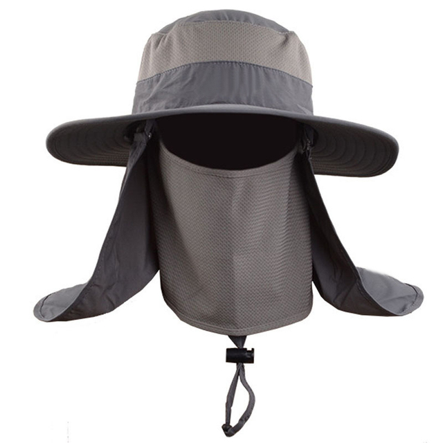 New Fashion Unisex Summer Sun Hats Fisherman Fishing Cap Hat Waterproof  Wide Brim Bucket Hats SPF fab43071d4f