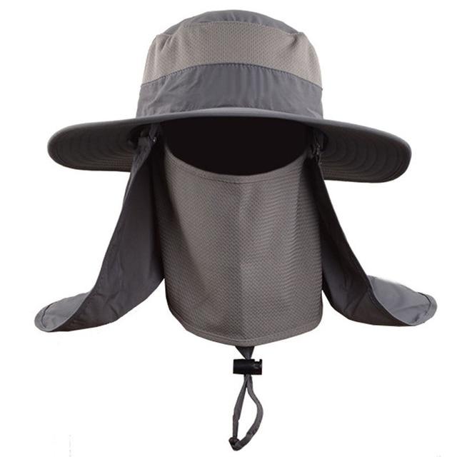 21dde90f35e New Fashion Unisex Summer Sun Hats Fisherman Fishing Cap Hat Waterproof  Wide Brim Bucket Hats SPF