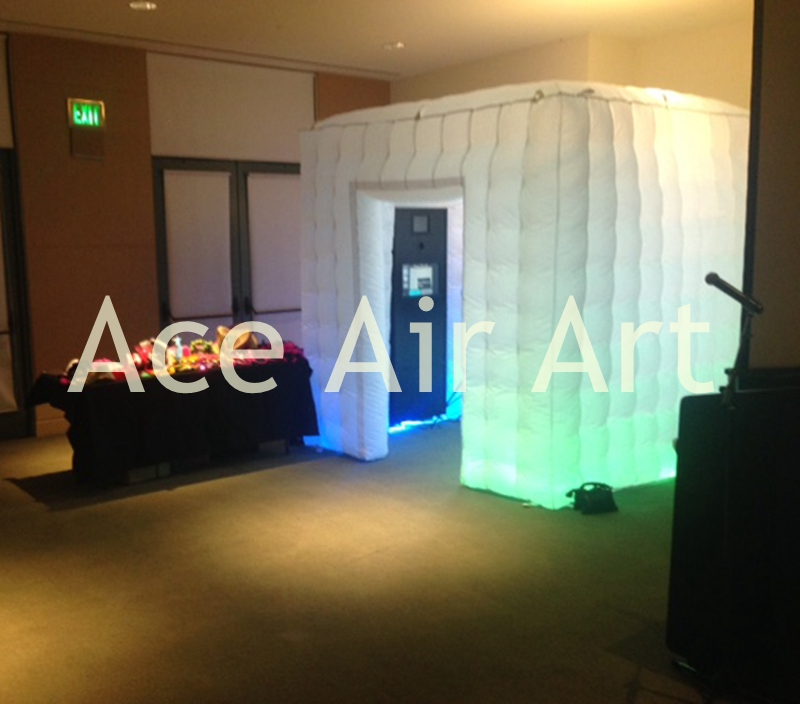 print you logo cube entertainment rental used inflatable photo booth enclosure