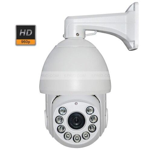 Caméra IP réseau IR PTZ dôme de vitesse extérieure de 6 pouces 1,3mp 960 P Zoom Onvif 20X