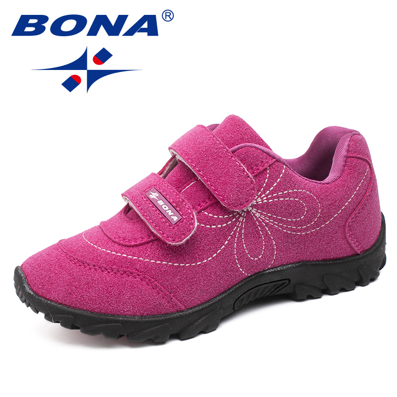 BONA New Arrival Hot Style Girls Casual Shoes Hook & Loop Children Shoes Comfortable Girls Sneakers Light Soft Free Shipping