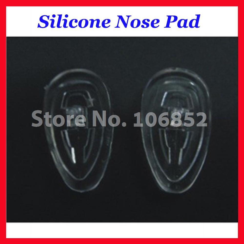 Retail 20pieces=10pairs Teardrop Type Silicone Nose Pads Size 15mm 16mm Screw-in Or Push-in Type Optional