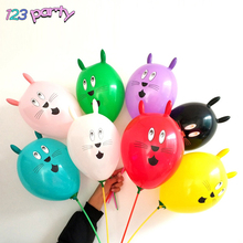 5 uds. Globos bonitos con cabeza de conejo grande para decoración de fiesta de cumpleaños de niños globo de juguete para mascotas regalo de zoológico Multicolor grueso 4g babyshower