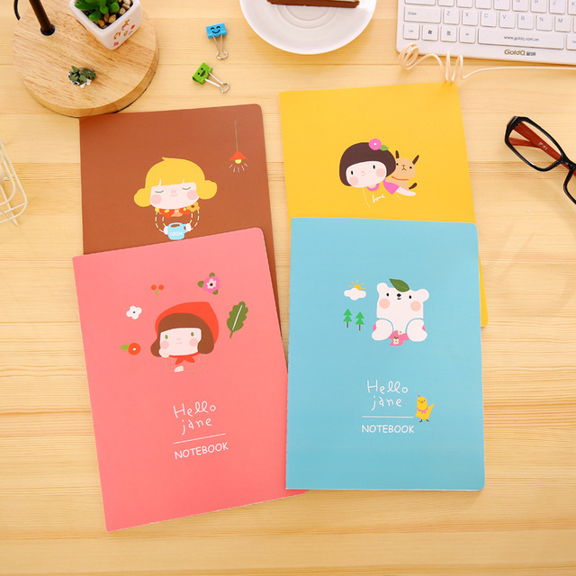 Kawaii Korean Stationery Hello Jane B5 Notebook Cute Cartoon Notepad  Student Schedule Diary School Supplies 1