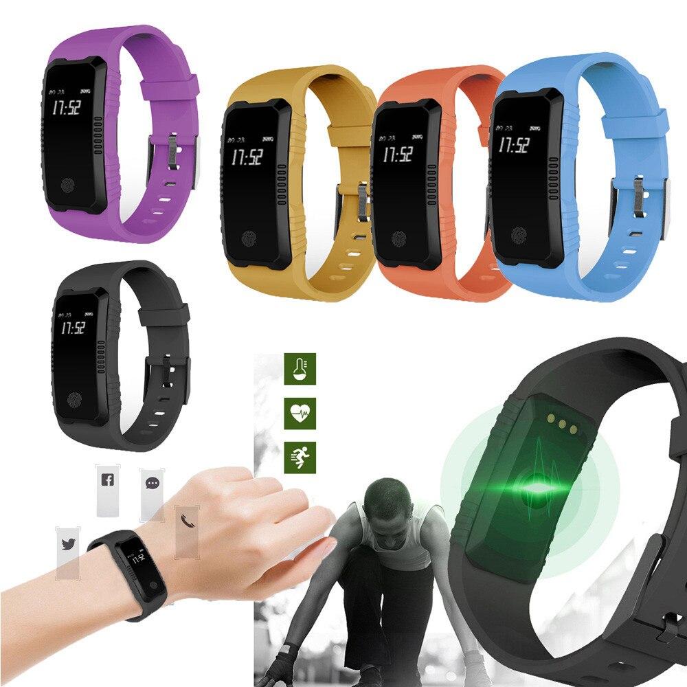 2018 Nouveau Design H1 de Fréquence Cardiaque Moniteur de Pression Artérielle Fente Poignet Étanche Bluetooth Montre Smart Watch relogio inteligente