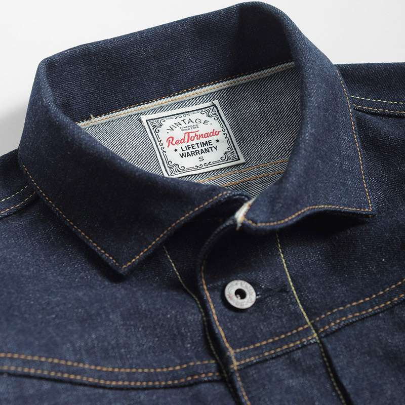 indigo selvage unwashed  vintage hand made top quality super heavy 16oz raw denim jacket-in Jackets from Men's Clothing    2