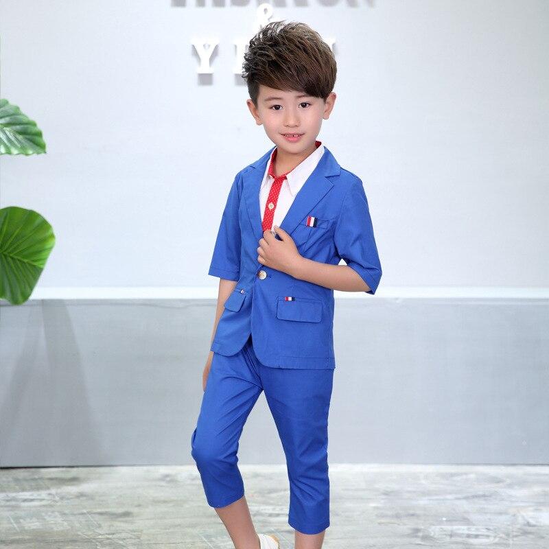 ActhInK New Boys 2PCS Solid Blazer Suit ბრენდი - ბავშვთა ტანსაცმელი - ფოტო 4