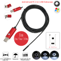Endoscopio 7mm 1 M 2 M 5 M 10 M Endoscopio USB HD Android Endoscopio Cámara IP67 Impermeable 2IN1 Android Cámara de Inspección Endoscopio
