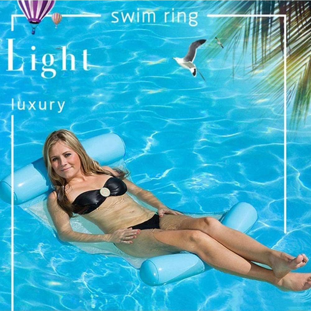 Swimming Ring Water Hammock Swimming Chair Mattress Inflatable Floating Bed Swimming Pool Floating Bed Swimming Mattress Beach